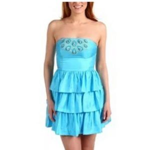 NWT Lilly Pulitzer Beau Ruffle Silk Beaded Dress